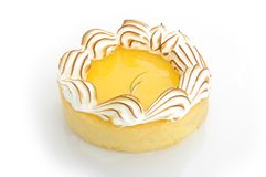 Tarta del merengue del limón Fotografía de archivo