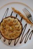 Tarta del plátano Imagenes de archivo