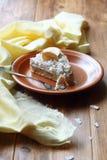 Tarta del plátano del coco del vegano Foto de archivo