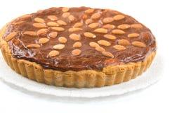 Tarta deliciosa de la almendra Imagen de archivo libre de regalías