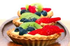 Tarta deliciosa de las natillas Imagen de archivo libre de regalías