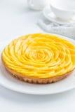 Tarta deliciosa del mango imagen de archivo