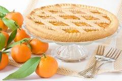 Tarta dulce con las frutas Imagenes de archivo