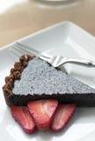 Tarta fresca del chocolate Foto de archivo libre de regalías