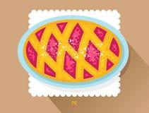 Tarta hecha en casa rusa con el azúcar en polvo Posts de la empanada de la baya del vector Imagenes de archivo