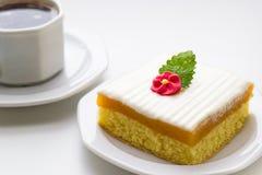 Tarta i kawa obraz stock