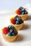 Tarta miniatura de la fruta Fotos de archivo libres de regalías