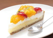 Tarta owoc torta zbliżenie Zdjęcia Royalty Free