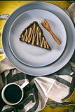 Tarta salada del caramelo Imagenes de archivo