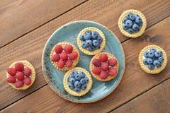 Tarta z świeżymi jagodami Fotografia Stock