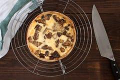 Tarta z pieczarkami Fotografia Stock