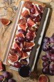 Tarta z winogronami i figami Zdjęcie Stock