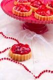 Tartalets della fragola Fotografia Stock