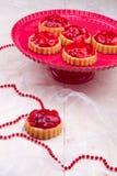 Tartalets della fragola Immagine Stock