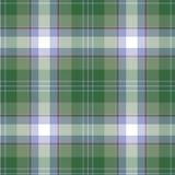 tartan картины безшовный Зеленый цвет, сирень и белая шотландка Предпосылка фланели тартана иллюстрация штока