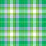 tartan картины безшовный Зеленый цвет, сирень и белая шотландка Предпосылка фланели тартана иллюстрация вектора