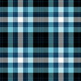 tartan картины безшовный Черная, голубая и белая шотландка Предпосылка фланели тартана иллюстрация штока