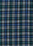 Tartan. Blue and green tartan cotton fabric Royalty Free Stock Photo
