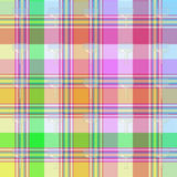 Tartan background with glasses Royalty Free Stock Photography
