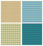 Tartan background sampler, four checkered backgrounds in different color variants Stock Photos