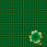 Tartan background to St. Patrick's Day Royalty Free Stock Photography