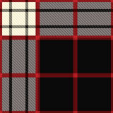 Tartan black and red Royalty Free Stock Photos