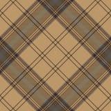 Tartan brown beige seamless fabric texture Stock Photos