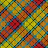 Tartan buchanan seamless diagonal pattern Stock Photo