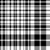 Tartan celtic fc seamless pattern fabric texture black and white Royalty Free Stock Photo