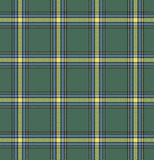 Tartan check plaid texture seamless pattern in yellow, blue and green. Royalty Free Stock Photos