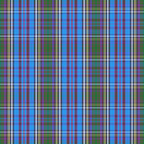 Tartan check plaid texture seamless pattern in yellow, blue and green. Stock Photos