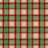 Tartan check plaid texture seamless pattern in yellow, red and green. Stock Images