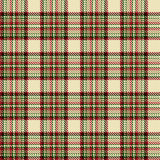 Tartan check plaid texture seamless pattern in yellow, red and green. Stock Image