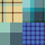 Tartan Cloth Collection of Seamless Patterns Stock Image