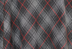 Tartan cloth detail stock image
