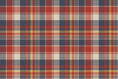 Tartan coarse fabric texture seamless pattern Stock Image