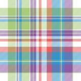 Tartan color plaid fabric seamless pattern. Flat design. Vector illustration stock illustration