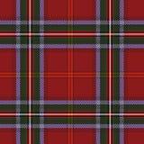 Tartan czerwieni zieleni tkaniny wzór royalty ilustracja
