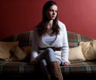 Tartan della ragazza Fotografia Stock Libera da Diritti
