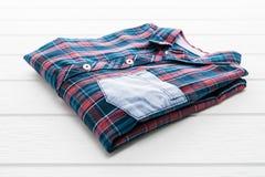 Tartan- eller plädskjorta Royaltyfri Foto