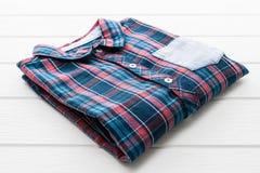 Tartan- eller plädskjorta Arkivbilder