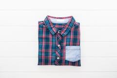 Tartan- eller plädskjorta Arkivfoton