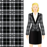 Tartan fabric. Example jacket of checkered or tartan twilled cloth Royalty Free Stock Photography