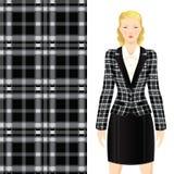 Tartan fabric. Royalty Free Stock Photography
