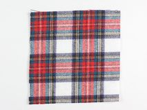 Tartan fabric sample Stock Photos