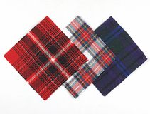 Tartan fabric sample Royalty Free Stock Photos