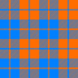 Tartan fabric texture seamless pattern orange and blue Stock Photography