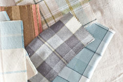Tartan fabrics Stock Photo