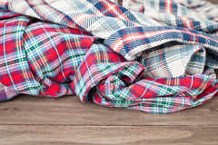 Tartan fabrics Royalty Free Stock Photography