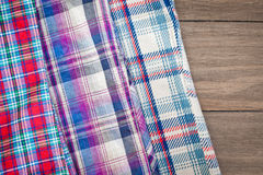 Tartan fabrics Stock Photo
